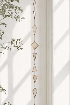 Shop Selma Hanging Garland at Urban Outfitters today. We carry all the latest styles, colors and brands for you to choose from right here. Funky Home Decor, Diy Home Decor, Room Decor, Stained Glass Projects, Stained Glass Art, Modern Stained Glass Panels, Hanging Stained Glass, Hanging Garland, Room Accessories