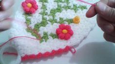 Puf çiçekli uzun lif yapım videosu 2