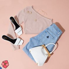 Cute Edgy Outfits, Classy Work Outfits, Swag Outfits, Girly Outfits, Simple Outfits, Pretty Outfits, Polo Outfits For Women, Teenage Outfits, Girls Fashion Clothes