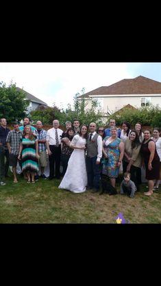 YSA Wedding reception in our backyard. 2014