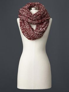 Marled double-wrap infinity scarf - One Size