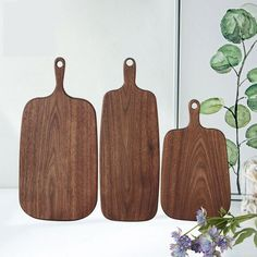 Black Walnut Chopping Blocks Kitchen Wood Food Plate Wooden Fruit Pizz – Pitchy Wooden Delights