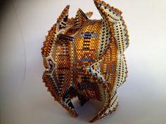 zia lola beads it: Winged bangle inspired by Contemporary Geometric Beadwork by KateMcKinnon
