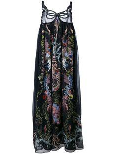 Floral-Print Maxi Dress, Blacknero