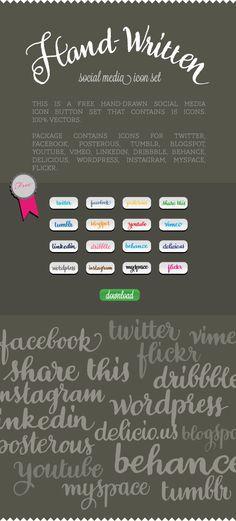 Social media icons (Free) by resistenza.es