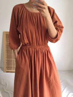 Terra Dress- Balloon Sleeve shirred linen midi dress (more colours available) Simple Dresses, Pretty Dresses, Modest Fashion, Fashion Dresses, Teaching Outfits, Shirred Dress, Everyday Dresses, Linen Dresses, Couture