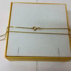 Kette Gold 333 Gliederkette Länge 45 cm /Stärke 09 mm edel