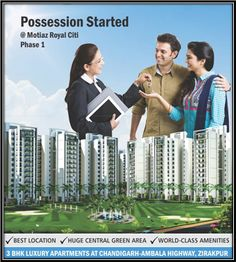 Book a 3BHK Flat 1460 SQ FT in the prime location of Chandigarh. For more visit >> http://www.motiagroup.com