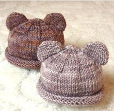 Baby Bear Hat, Hat with Ears, Baby Toddler, Infant, Handmade hat