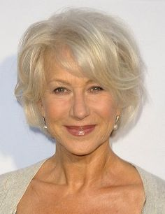 Classy Celebrity Hairstyles for Women with Gray Hair-Helen Mirren