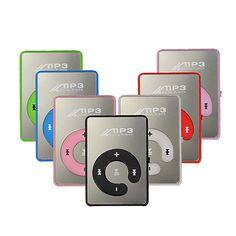 Slot Mini Spiegel Clip Mp3 Mp4 Sport Musik-player Mit Tf-karte Usb Unterstützung Bis Zu 8 Gb Tragbares Audio & Video