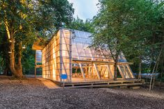 Osthang Project, Main Hal by Atelier Bow-Wow Timber Architecture, Sustainable Architecture, Bow Wow, Glass Green House, Temporary Structures, Timber Structure, Diy Shed, Street Furniture, Interior Exterior