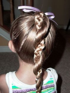 Cute Bow Hairstyle Ideas With Braids Ponytail