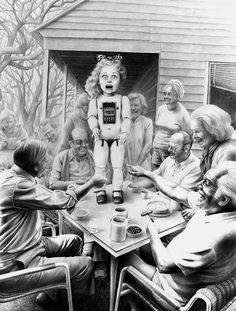 Creepy art by Laurie Lipton.  Love it.