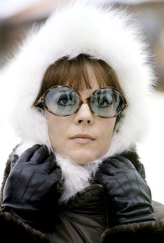 Natalie Wood in the French Alps, 1970. Photo by Jean-Claude Deutsch.