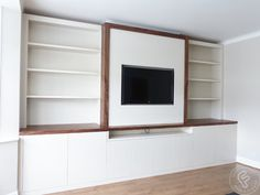 Added storage throughout the home, built in any style you like from floating to built in. Your fitted shelves in London are made specifically for your home. Media Unit, Media Wall, Modern Wardrobe, Wall Storage, Modern Contemporary, The Unit, Shelves, Wardrobes, Building