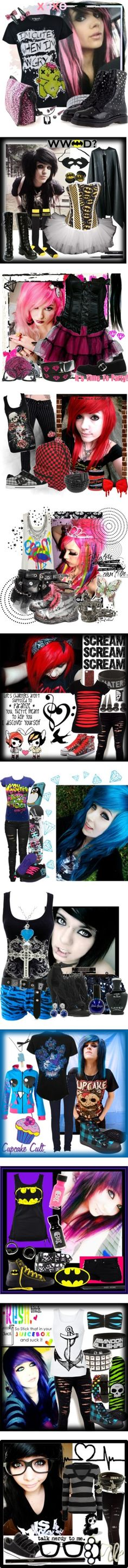 """Emo and Scene3"" by xxmusic-luverxx ❤ liked on Polyvore"