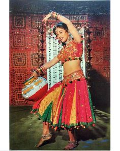 """Madhuri in """"Prem Granth"""" Bollywood Cinema, Bollywood Stars, Bollywood Actress, Madhuri Dixit Hot, Bollywood Costume, Chanya Choli, Guess The Movie, Asian Photography, Bollywood Pictures"""