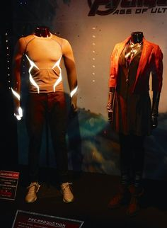 Quicksilver and Scarlet Witch Avengers: Age of Ultron movie costumes