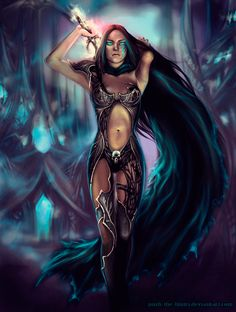 fantasy and science fiction Fantasy Female Warrior, Fantasy Women, Sci Fi Fantasy, Fantasy Girl, Warcraft Art, World Of Warcraft, Sword Mage, Science Fiction, Death Knight