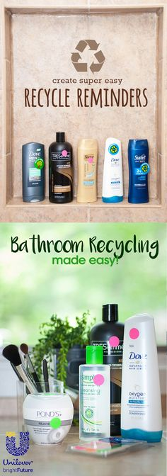 Remember to recycle your bathroom products by using quick and easy reminder stickers! @UnileverUSA #partner
