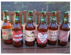 Such an awesome post here ..... home made beer labels! :)