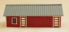 N scale General Shed with Metal Roof kit in styrene. 1 shed kit. # 015 002 190 004A