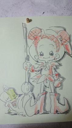 Maho, Ojamajo Doremi, Magical Girl, Infant, Doodles, Sketches, Animation, Anime, Drawings