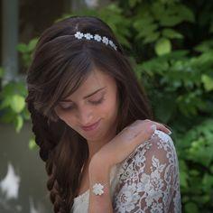 Vesna Garic | Bijoux d'élégance en porcelaine Headband et bracelet Chance