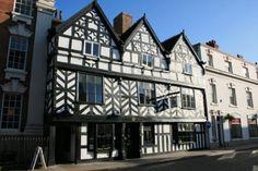 Tudor Cafe built 1540 in Lichfield, Staffs
