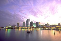 Downtown #Miami skyline.  http://www.weplann.com.br/miami