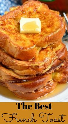The BEST French Toast. This is the best French Toast recipe that features soft, buttery Brioche bread soaked in sweetened egg mixture. Perfect combination of plush and soft inside and crispy outside texture. recipes breakfast The Best French Toast Awesome French Toast Recipe, Best French Toast, French Toast Bake, French Toast Recipes, Cinnamon French Toast, Homemade French Toast, Challah French Toast, Ihop French Toast Recipe, Healthy French Toast