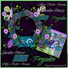 Inspirations Of Scraps Friends PU Garden Music Cluster 2 by Joly [HF-Projekte] - PU Garden Music Cluster 2 by Joly Christmas Ornaments, Holiday Decor, Music, Inspiration, Home Decor, Oysters, Projects, Musica, Biblical Inspiration