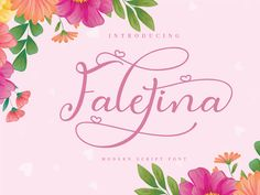 Faletina is a dynamic and cute script font. The beautiful round character makes it the perfect modern font for creating. Funny Greetings, Funny Greeting Cards, Modern Script Font, Modern Fonts, Font Squirrel, Commercial Use Fonts, Calligraphy Fonts, Handwritten Fonts, Lettering