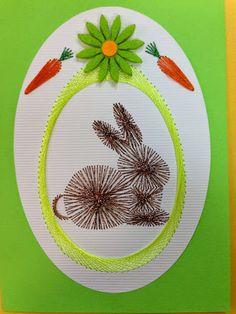 Billede: Embroidery Cards, String Art, Easter Crafts, I Card, Line Art, Needlework, Archive, Ova, Albums