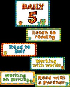 OWL Classroom Kit Daily 5 Posters
