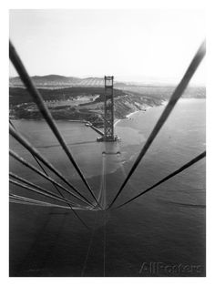 Construction of the Golden Gate Bridge Giclee Print at AllPosters.com
