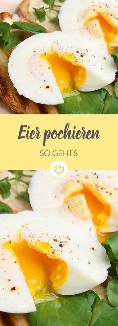 Das Pochieren von Eiern gilt als eine der schwierigsten Zubereitungsarten! Keine Angst - mit unserer Schritt-für-Schritt-Anleitung gelingt es dir!