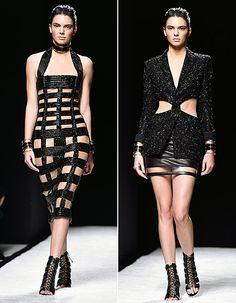 Kendall Jenner Walks in Balmain Spring 2015 at Paris Fashion Week - Us Weekly