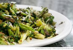 Parmesan-Roasted Broccoli with Pine Nuts
