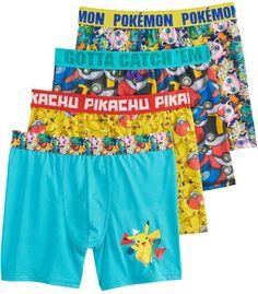 0f2981e930 Boys 8-10 Pokemon 4-Pack Cool Yarn Boxer Briefs. Boxer BriefsSwim TrunksSize  ...