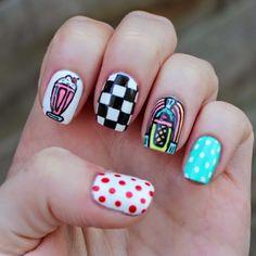 Fifties Nail Art