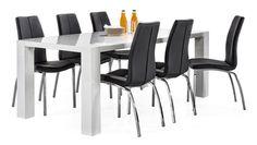 TWIST-ruokapöytä ja 6 ASTON-tuolia