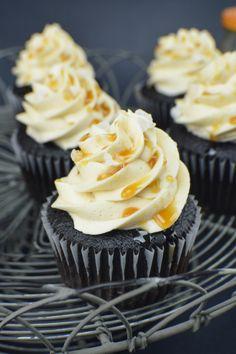 Dark Chocolate Salted Caramel Cupcakes | Revamperate