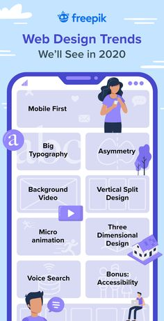 8 Web Design Trends to Keep in Mind for 2020 - Check out the web design trends we'll see next year. Learn more about asymmetry, design or mic - Web Design Trends, Design Web, Layout Design, Design Logo, Graphic Design Tips, Web Design Company, 2020 Design, Flat Design, Minimal Web Design