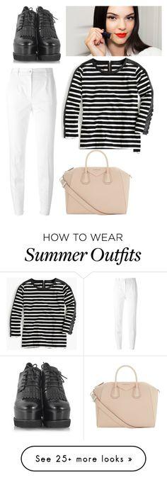 """Outfit"" by meloprea on Polyvore featuring Dolce&Gabbana, J.Crew, Logan, Givenchy and redlips"