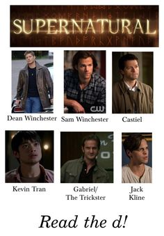 """My Supernatural Crushes (Read the d!)"" by kelseystan97 ❤ liked on Polyvore featuring supernatural"
