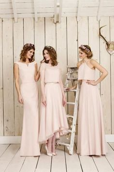 Love the middle dress!  View our True Bride & Nicki Flynn Wedding Dresses, Bridesmaid Dresses by True Bridesmaids & Luna Collections. Find pretty Lace bridal gowns, chiffon bridesmaids and more.