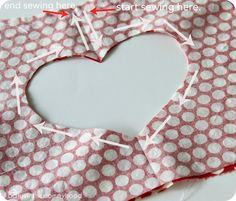How to for heart cutout in back of dress..for kids but whatever, I'm using it!