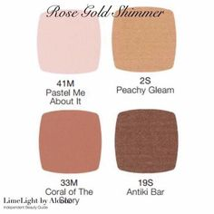 Rose gold shimmer eye shadow. Limelight